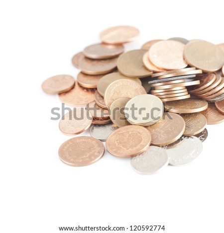 British currency coins - stock photo