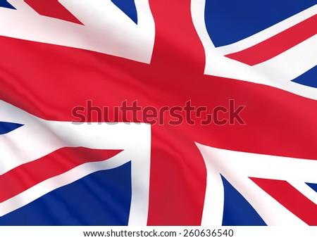 British flag. 3d illustration isolated on white background  - stock photo
