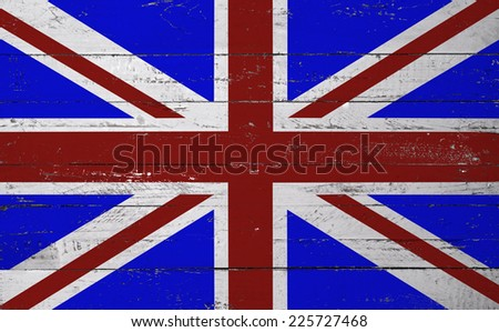 British flag painted on a wooden board
