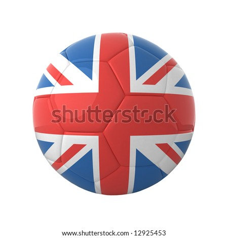 British football for europe's championship. - stock photo