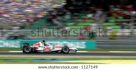 British Formula One driver Jenson Button of Lucky Strike Honda Racing team, 2006 - stock photo