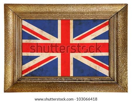 British framed flag background - stock photo