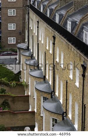 British houses - stock photo