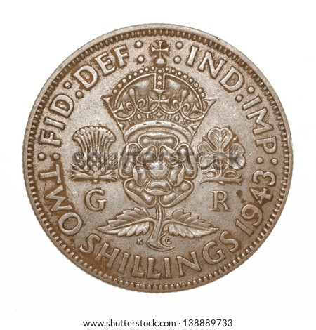 British King George VI 1943 Two Shilling (Florin) Coin