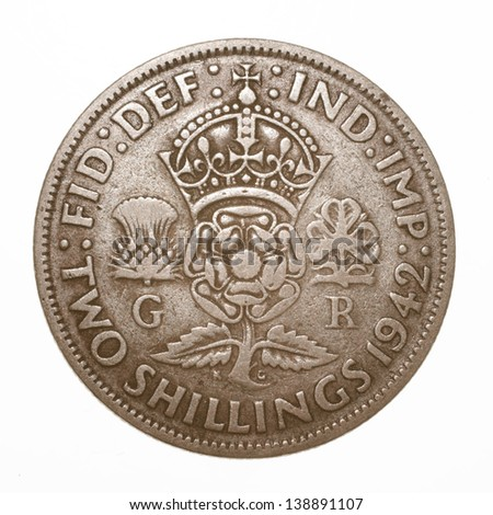 British King George VI 1942 Two Shilling (Florin) Coin
