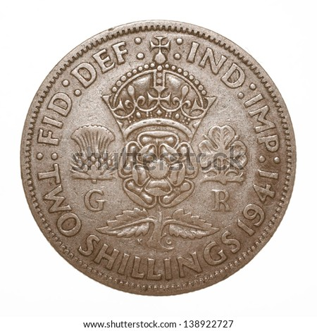 British King George VI 1941 Two Shilling (Florin) Coin