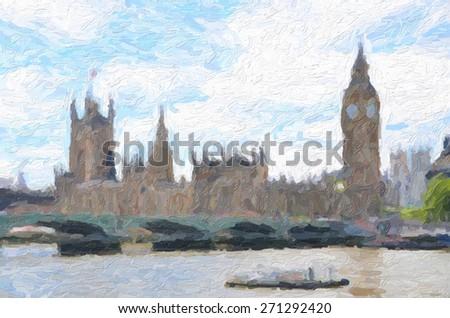 British Parliament - stock photo