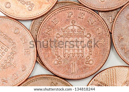 British penny coins