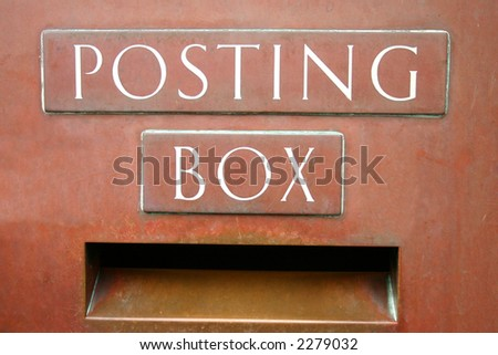 British Post Office posting box.