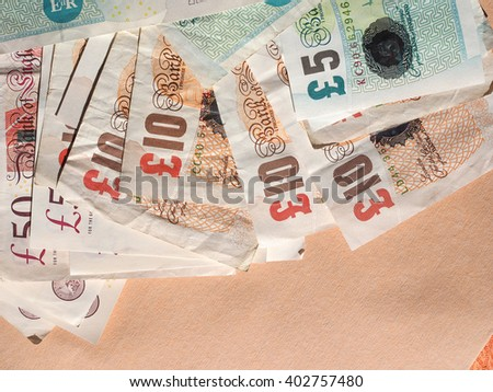 British Pound banknotes currency of the United Kingdom - stock photo
