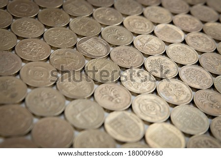 British Pound Coins - stock photo