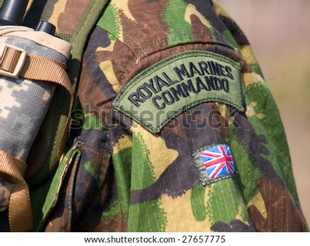 British Royal Commando Badge - stock photo