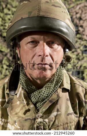 British Soldier Portrait - stock photo
