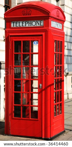 British telephone kiosk