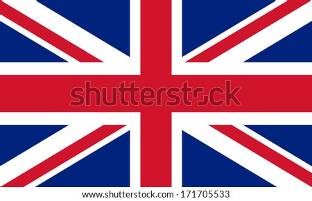 British Union Jack flag Authentic color and scale 3:5