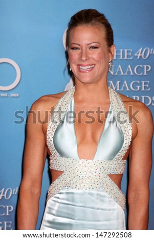 Brittany Daniel  arriving  at the 40th Annual NAACP Image Awards  at the Shrine Auditorium in Los Angeles, CA on  February 12, 2009