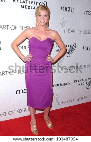 Brittany Snow at the Third Annual Art of Elysium Black Tie Charity Gala, Beverly Hilton Hotel, Beverly Hills, CA. 01-16-10 - stock photo