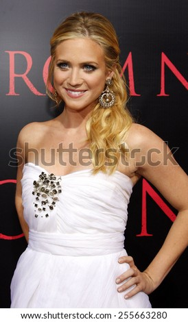 """Brittany Snow attends the World Premiere of """"Prom Night"""" held at the ArcLight Theater in Hollywood, California, United States on April 9, 2008.  - stock photo"""