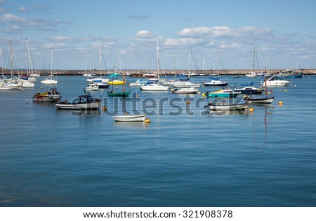 BRIXHAM, DEVON, UK. JULY 30, 2015. Yachts and boats in the marina at Brixham, Devon, UK. - stock photo