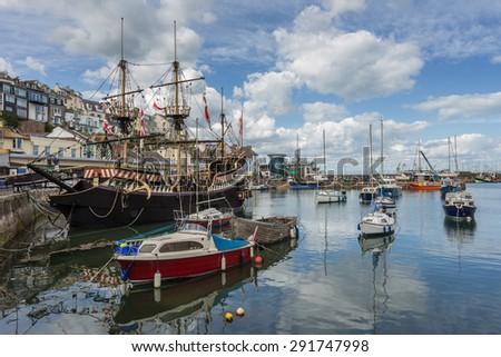 Brixham Harbour - stock photo