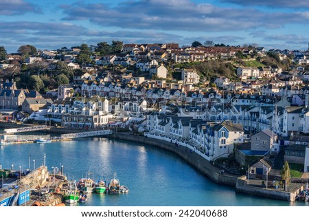 Brixham in Devon - stock photo
