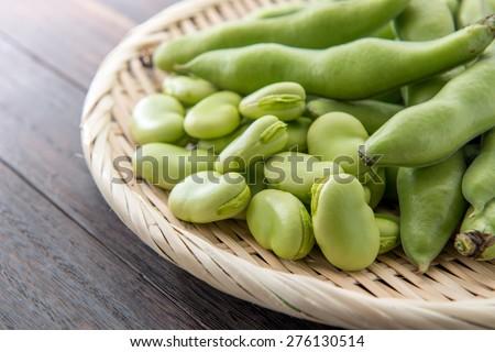 broad bean - stock photo