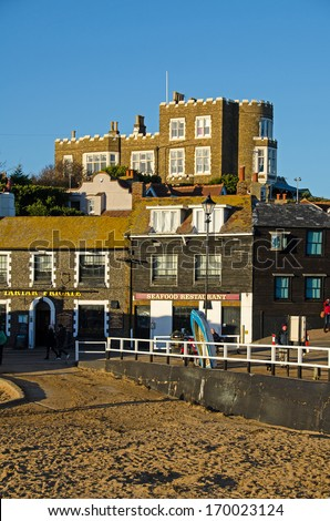 BROADSTAIRS, KENT, UK - DEC 29, 2013.  Bleak House at Broadstairs, where Charles Dickens stayed and wrote David Copperfield. - stock photo
