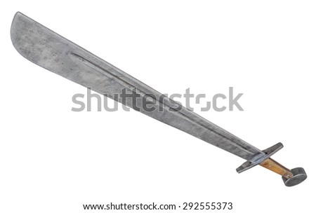 Broadsword isolated. Clipping path included.