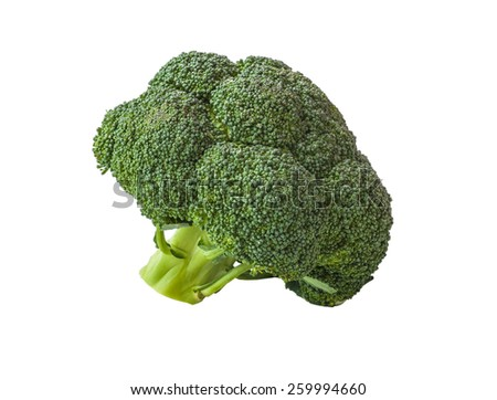 Broccoli isolated on a white background - stock photo