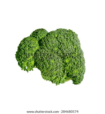 Broccoli isolated on white - stock photo