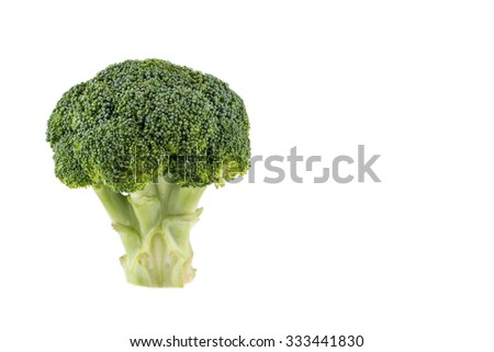 Broccoli isolated over white background - stock photo