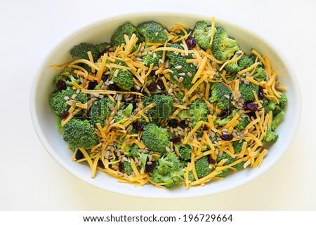 broccoli salad healthy - stock photo