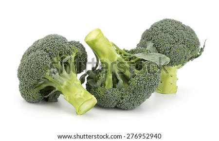 Broccoli vegetable isolated on white background - stock photo