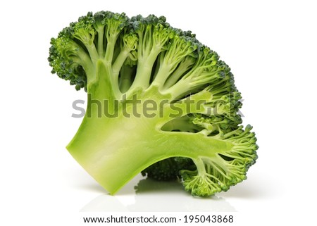 Broccoli vegetable on white background  - stock photo