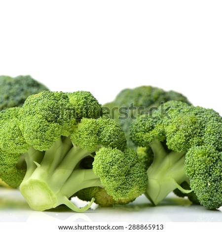 Broccoli vegetable on white background