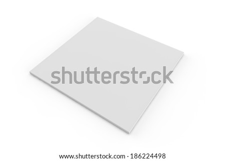 brochure in a square shape on a white abckground - stock photo
