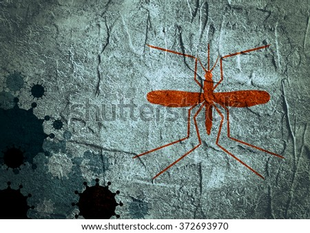 Brochure, report or flyer design background. Medical industry, biotechnology and biochemistry. Scientific medical designs.  Virus mosquito transmission diseases relative theme. Concrete textured - stock photo