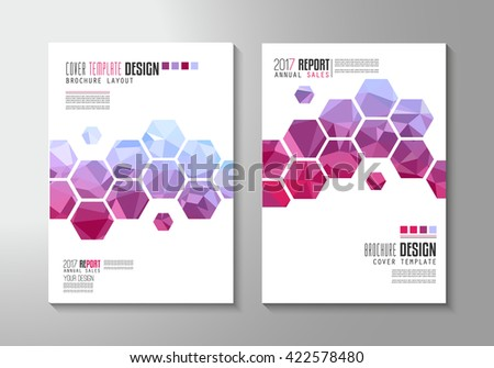 Brochure template, Flyer Design or Depliant Cover for business presentation and magazine covers, annual reports and marketing generic purposes. - stock photo