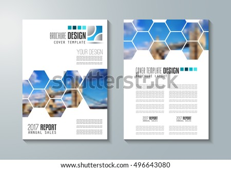 Brochure Template Flyer Design Depliant Cover Stock Vector