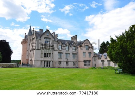 Brodie Castle at the side view