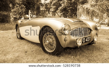 BRODIE, SCOTLAND - AUGUST 14: Austin Healey on August 14, 2016 in Brodie, Scotland.
