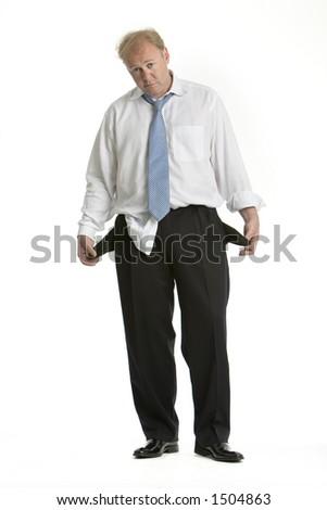 Broke executive - stock photo