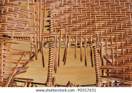 Broken background pattern weave - stock photo
