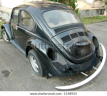 broken beetle with polished paint work