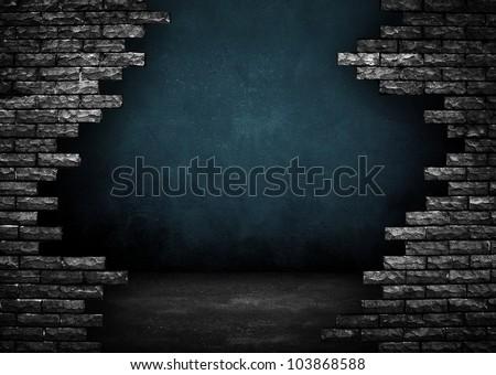 broken building - stock photo