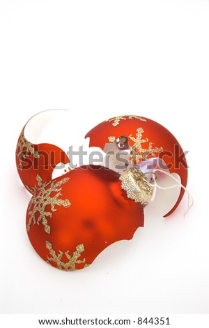 Broken decoration bulb 1 - stock photo