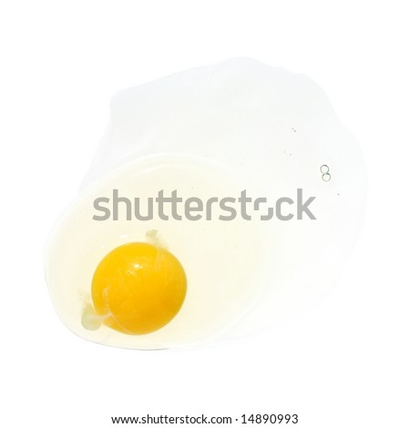 broken egg, isolated