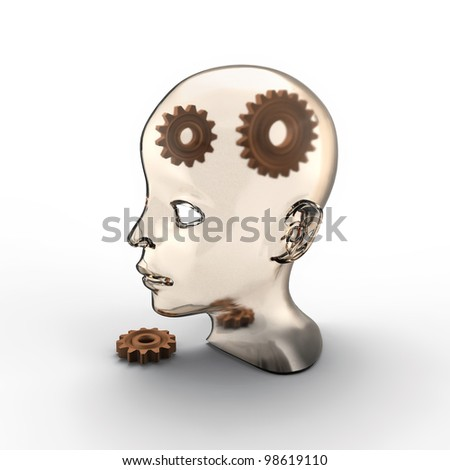 broken gears in human head