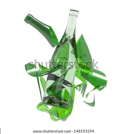 Broken glass bottle stock photo for Easy break glass bottles
