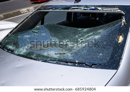 Hail Damage Stock Images Royalty Free Images Amp Vectors